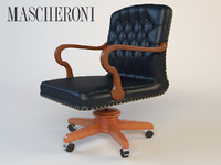 3d luxury armchair mascheroni