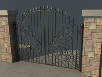 3d model of gate vol2
