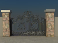 house gate vol3 3d max