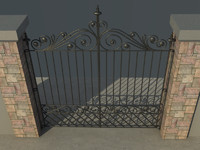 house gate vol1 3d max