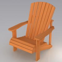 3d model of adirondack chair