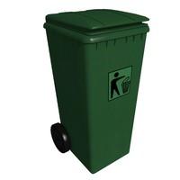 waste bin m-01 3d model