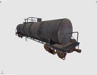 free cargo vagon 3d model