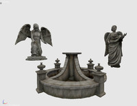 3d model package statues