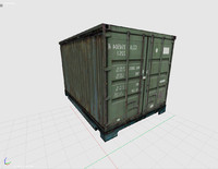 3ds shipping cargo container