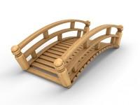 3d garden bridge model