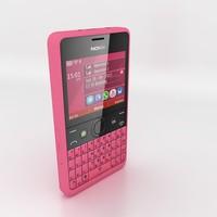 nokia asha 210 pink 3d 3ds