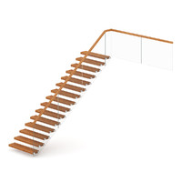 wood wooden stairs 3d max