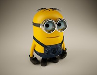 3d rigged character minion