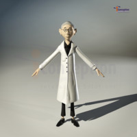 3d model cartoon toon old