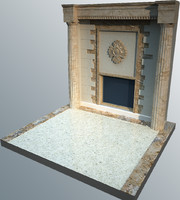 3d architectural elements window
