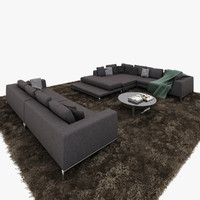 3d model minotti hamilton islands