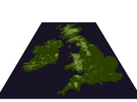 3d topology united kingdom ireland model