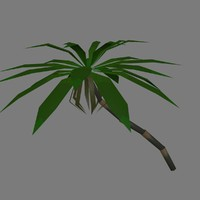 3d palm modular trees banana
