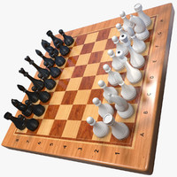 chess set 3d fbx