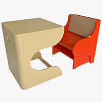 Child Convertible Chair and Desk