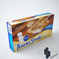 3d toaster strudel smores model