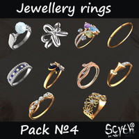 Jewellery Rings Pack4