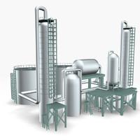 refinery 3d model