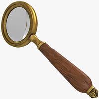 3d retro magnifying glass