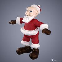 3ds max santa cartoon character