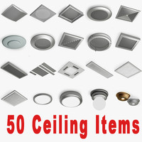 3ds max 50 ceiling items