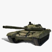3d model soviet t-72
