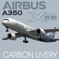 3d model airbus a350 xwb carbon
