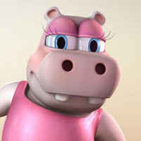 3d model rigged cartoon characters