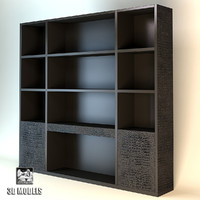 3d model bookshelf fendi roy