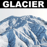 glacier snow rocks 3d max