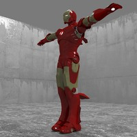 3d model rigged iron man