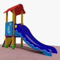 playground slide 3d max