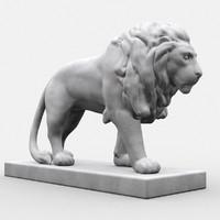 3d statue lion model