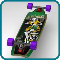 3d tiffany complete longboard