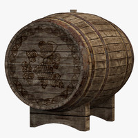 3ds max old wine barrel