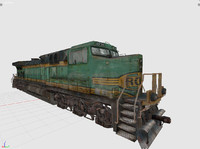 locomotive modern 3d model