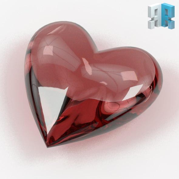 Heart Shaped Gemstone 02