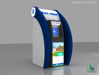 bank atm kiosk design 3d 3ds