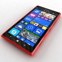 nokia lumia 1 red 3d model