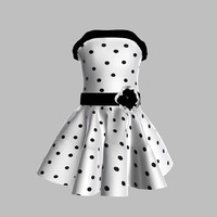 dress girl child 3d model
