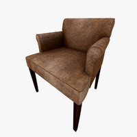 armchair suede leather obj