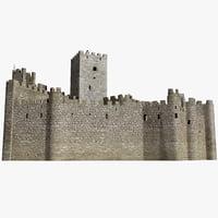 3dsmax castle almourol portugal