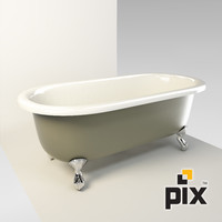 3d freestanding bath model