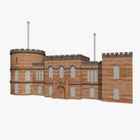 castle house 3d model