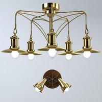 3d model ceiling chandelier lamp