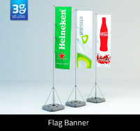 3d max event flag banner