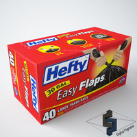 hefty trash bags 3d model