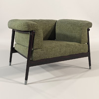 3d model giorgetti - derby chair