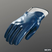 nitrile gloves industrial 3d model
